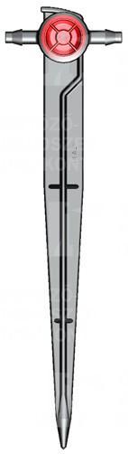 Pálcás csepegtető (átfolyásos), nyomáskomp., 2 l/h