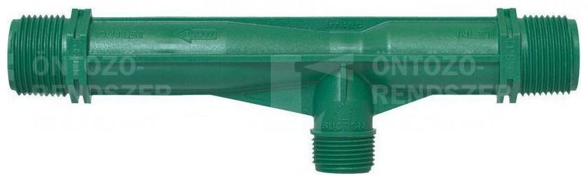 """Tápoldatozó injektor/Venturi cső 3/4"""" KM, 150 l/h"""