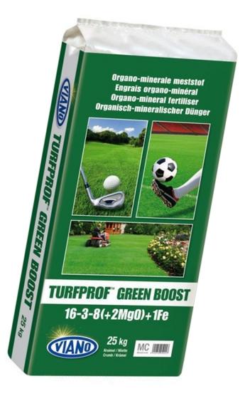 Viano TURFPROF GREEN BOOST szerves gyeptáp, 25 kg