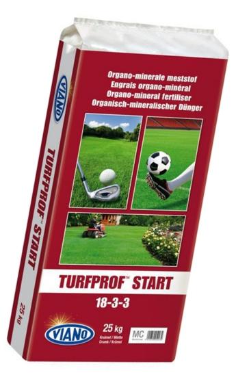 Viano TURFPROF START szerves gyeptáp, 25 kg
